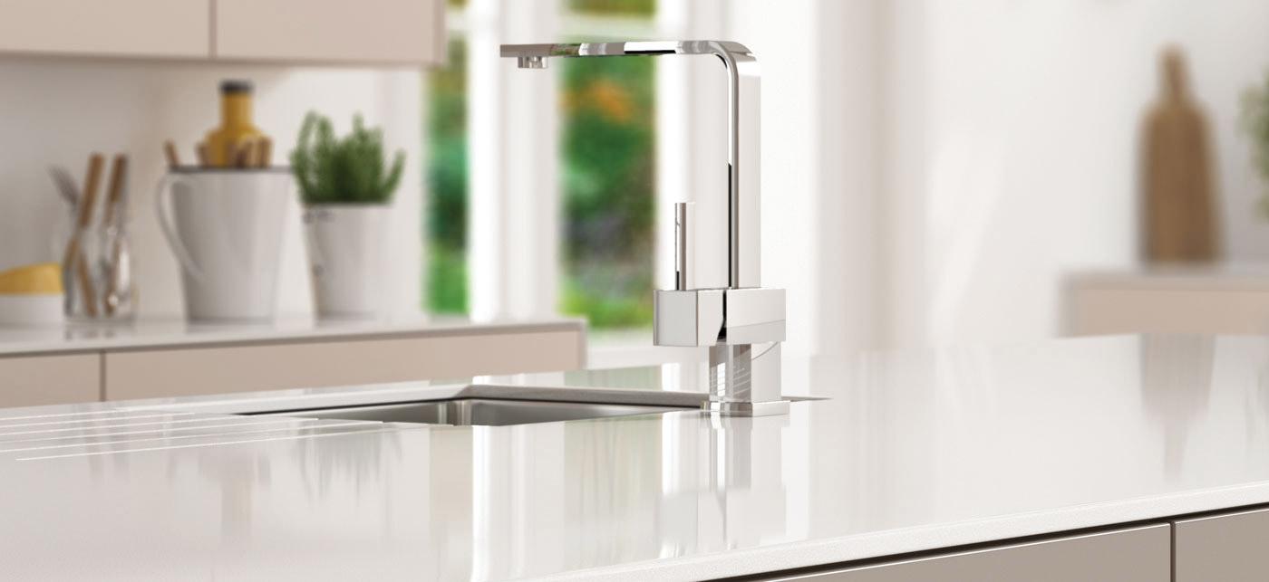 Kitchen sink, white stone kitchen worktop, long Eaton, Nottingham